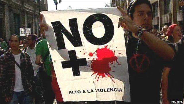 Mexico protester sign