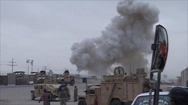 Aftermath of Kandahar police base attack