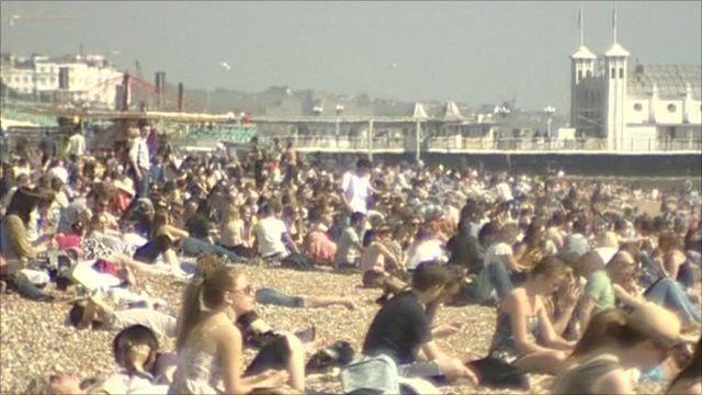 people enjoying sunshine