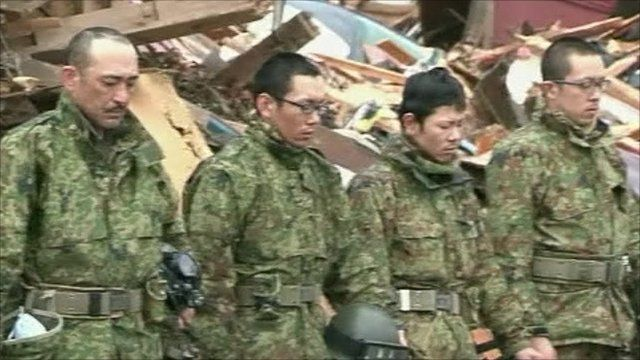 Japanese mark month since tsunami