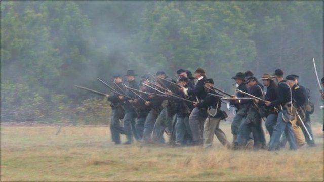 Civil War re-enactors