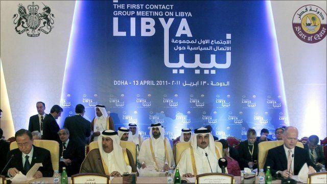 Delegates at talks on Libya