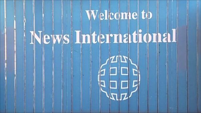 News International sign