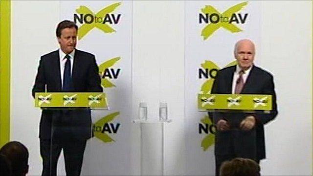 David Cameron and John Reid