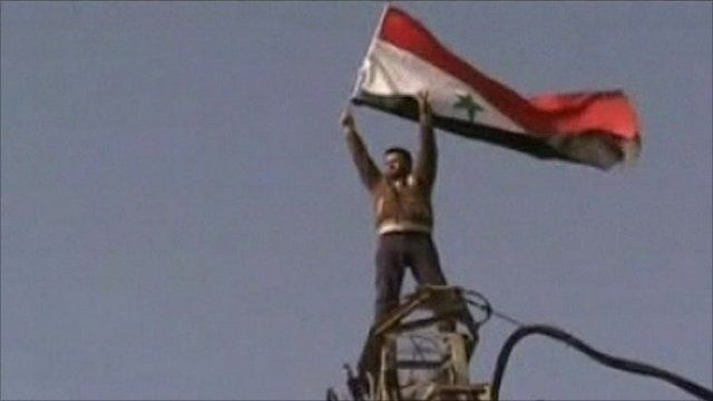 Man with Syrian flag