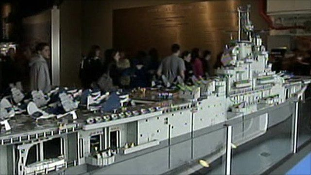 Lego model of USS Intrepid