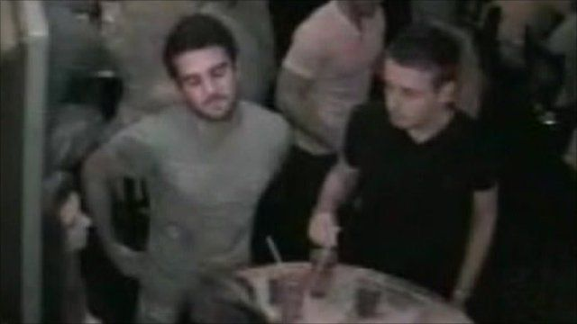 CCTV footage of victims in bar before shooting