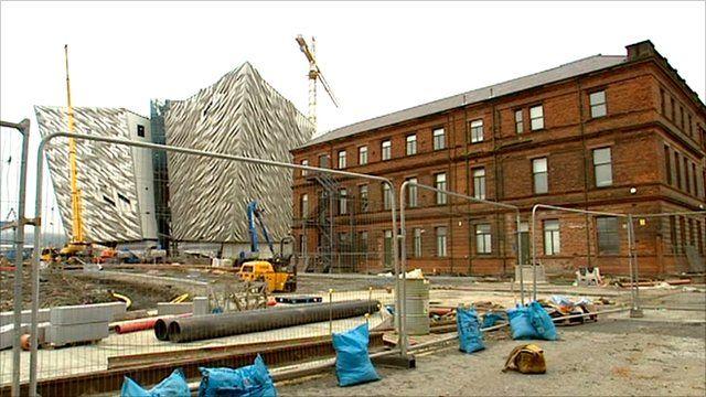 Belfast Docklands building site
