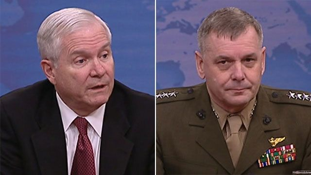 Defence Secretary Robert Gates and General James Cartwright