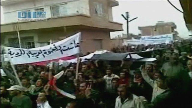 Protests in Qamishli