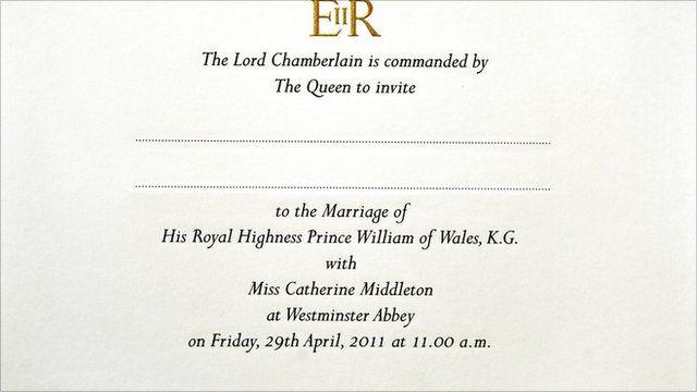 royal wedding the protocol of a royal guest list bbc news