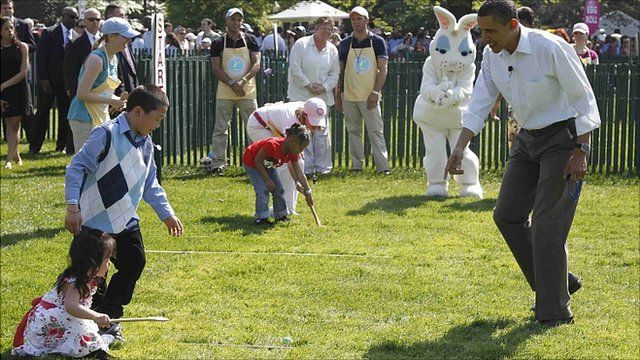 Easter egg roll at the White House, Washington