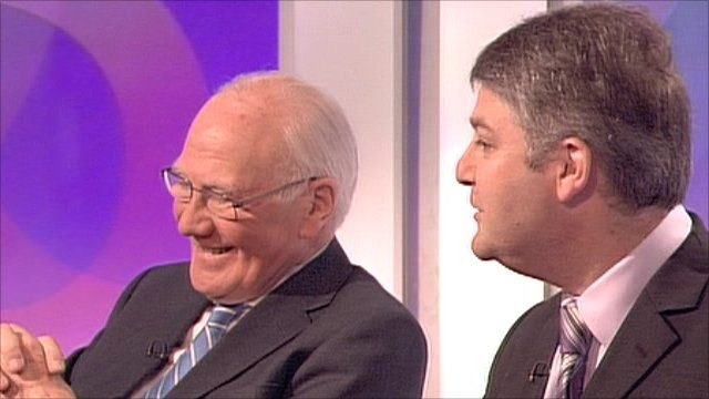 Sir Menzies Campbell and Conservative MP Philip Davies
