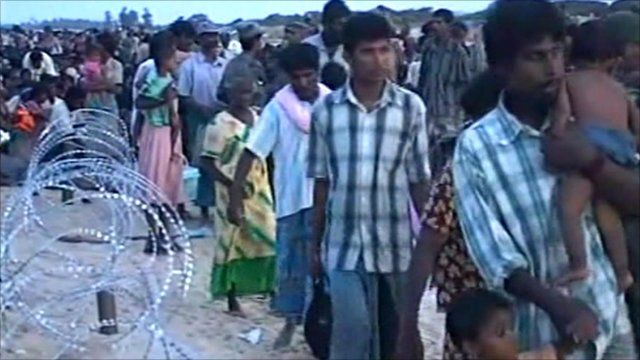 Tamil refugees in 2009