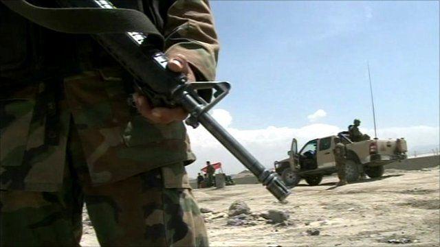 Afghan army soldier