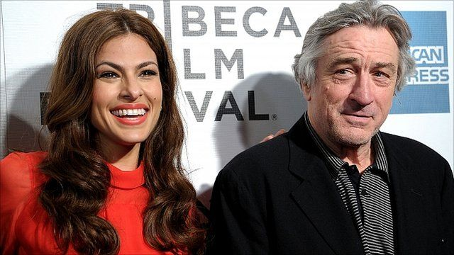 Eva Mendes and Robert De Niro