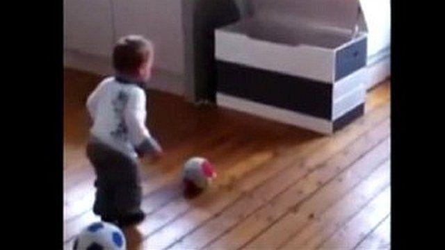 Footballing toddler