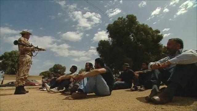 A rebel camp in Benghazi
