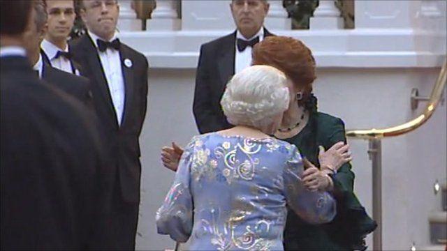 Queen arrives