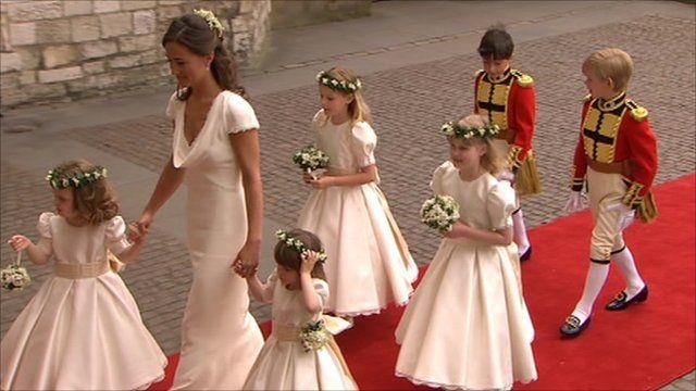 The bridesmaids arrive