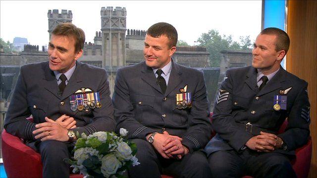 William's RAF colleagues
