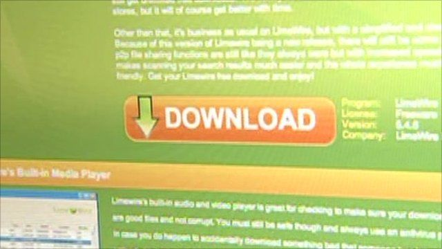 Limewire website