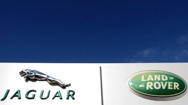 Jaguar Land Rover sign