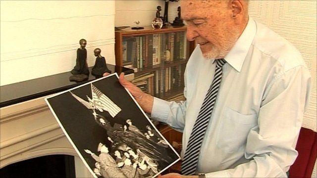 World War II veteran George Broomhead