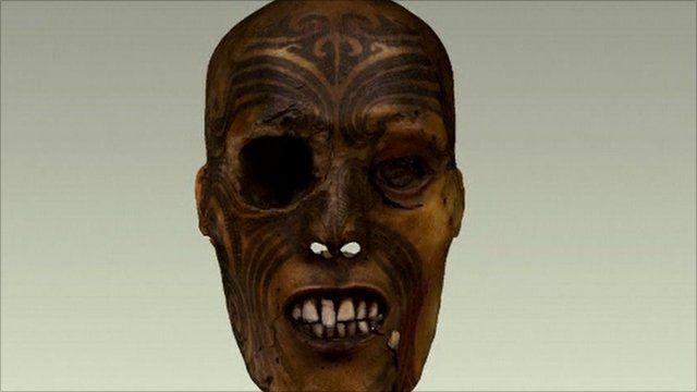 Maori warrior head