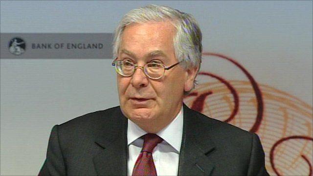 Governor of the Bank of England, Mervyn King