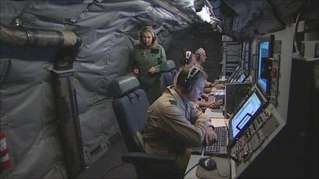 On board RAF spy-plane