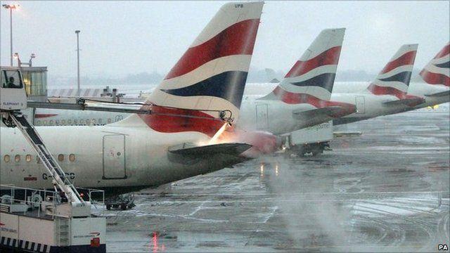 De-icing at Heathrow