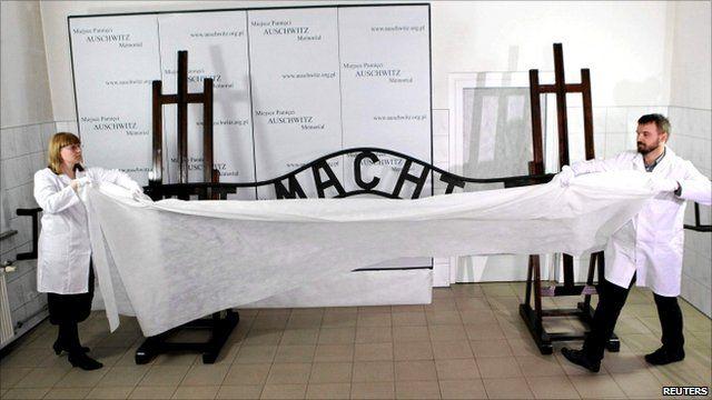 """Restored Auschwitz """"Arbeit macht frei"""""""
