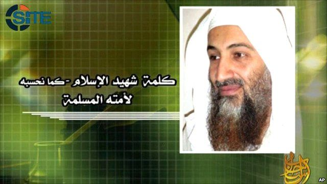 Screen grab of Bin Laden provided by the SITE Intelligence Group