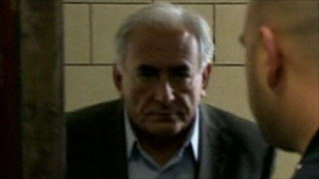 Mr Strauss-Kahn enters court