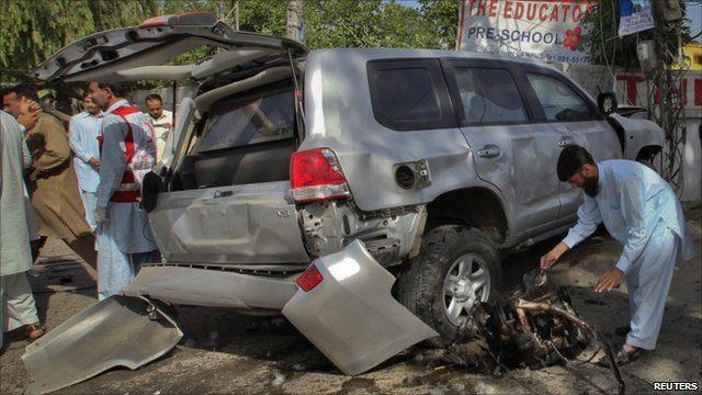 Damaged armoured vehicle