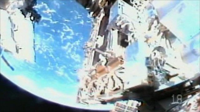 ISS and the Earth