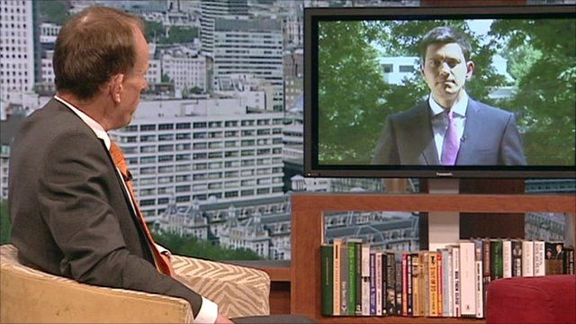 Andrew Marr and David Miliband