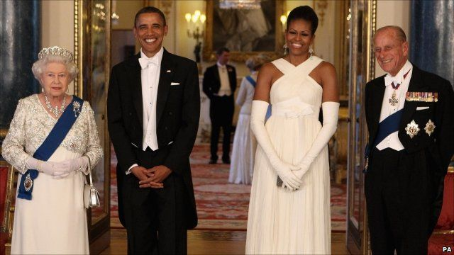 The Queen, President Obama, Michelle Obama and Prince Philip