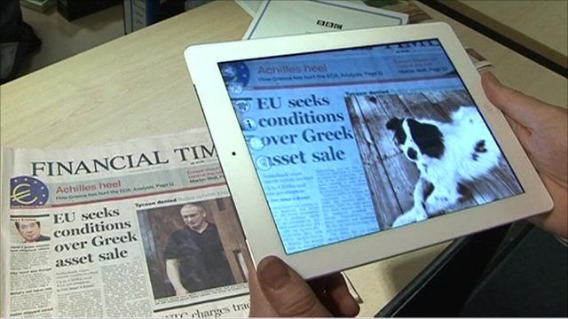 Viewing a newspaper through an augmented reality application