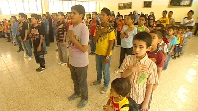 Children at school in Benghazi