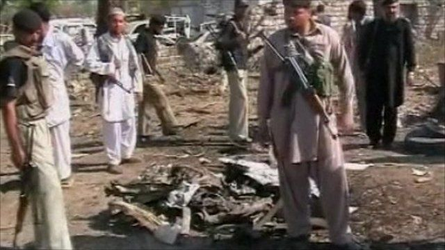Aftermath of suicide bomb in Pakistan