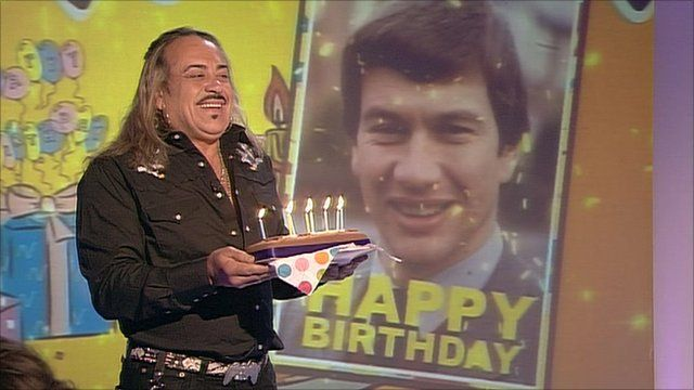 Wagner with birthday cake
