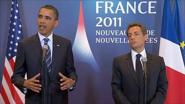Obama and Sarkozy