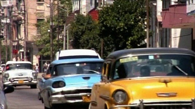Private taxis - another industry being encouraged - on the streets of Havana