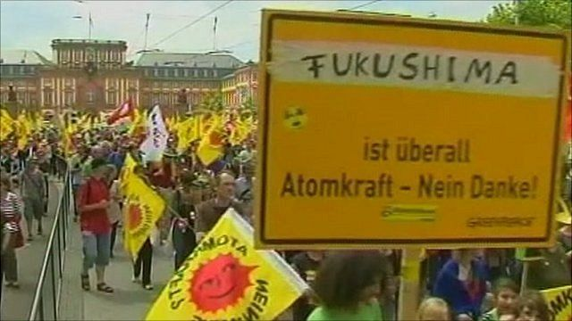 Anti-nuclear protesters in Germany