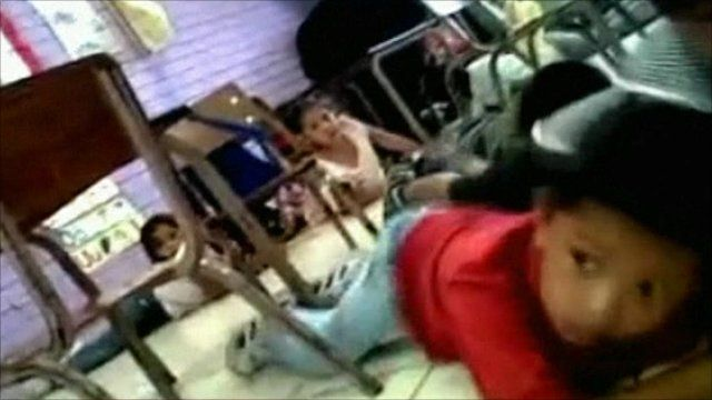 Pupils on the floor