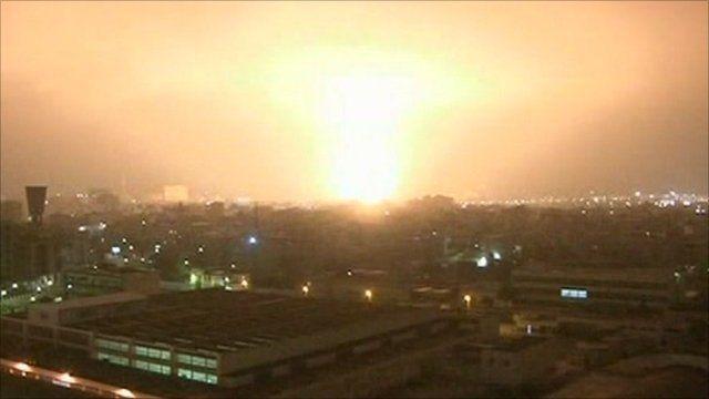 Blast in Tripoli
