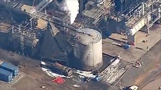 The Chevron plant in Pembroke where the fire was