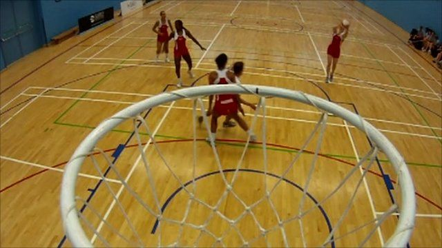 Mike plays netball